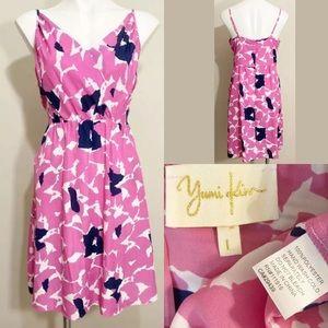 Yumi Kim Pink Spaghetti Strap Floral Print Dress